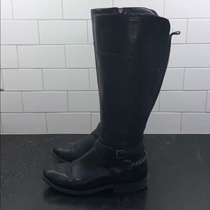 Marc Fisher Wide Calf Black Boots Size 8.5